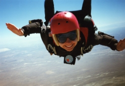 Skydiving student Dawn English