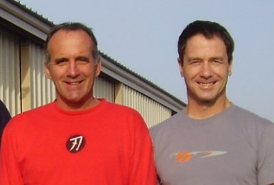Team mates, friends, business partners since 1984: Daniel Paquette, Michel Lemay